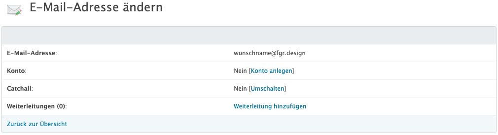eMail-Adresse ändern